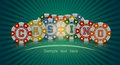 Casino chips banner Royalty Free Stock Photo