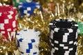 Casino chips bonus Royalty Free Stock Images