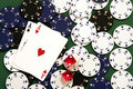 Casino Chips, Dice and Cards Royalty Free Stock Photo