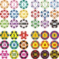 Casino chips set Stock Images