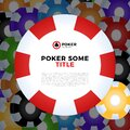 Casino chips vector white background with place for your text Royalty Free Stock Photo