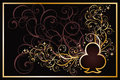 Casino clubs golden card vector illustration Royalty Free Stock Photo