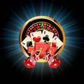 Casino  Composition with Roulette Wheel Royalty Free Stock Photo