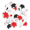Casino Concept Floating Cards and Chips. Casino poker design template. Falling poker cards and chips game ucky