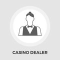Casino Dealer Flat Icon Royalty Free Stock Photo