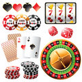 Casino design elements Royalty Free Stock Image