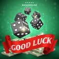 Casino dice gambling vector background. Good luck concept Royalty Free Stock Photo
