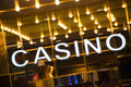 Casino entrance at evening time Stock Photography