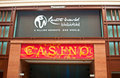 Casino Entrance and Slogan Stock Photo