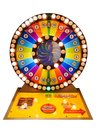 Casino gamble concept : colorful roulette game gamble wheel Royalty Free Stock Photo