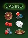 Casino gambling attributes Royalty Free Stock Photo