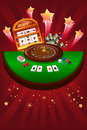 Casino gambling design a vector illustration of Royalty Free Stock Image