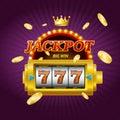 Casino Gambling Game Jackpot Concept Card. Vector Royalty Free Stock Photo