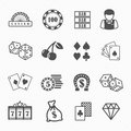 Casino and gambling icons set vector Royalty Free Stock Image