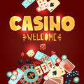 Casino gambling poster Royalty Free Stock Photo