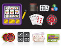 Casino and gambling tools icons Royalty Free Stock Photo