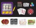 Casino and gambling tools icons Royalty Free Stock Photo