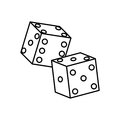 Casino game dices Royalty Free Stock Photo