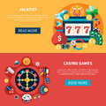Casino Games Banners Set Royalty Free Stock Photo