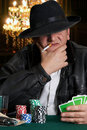 Casino guy Royalty Free Stock Photo