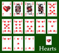 Casino hearts Stock Photography