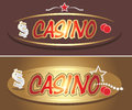 Casino icons for design illustration Royalty Free Stock Images