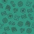 Casino icons pattern