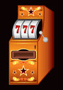 Casino machine gold slot with sevens Royalty Free Stock Photography