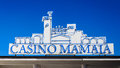Casino mamaia neon lights sign in resort romania black sea coast Royalty Free Stock Photos