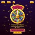 Casino menu web design with wheel of fortune