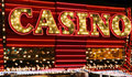 Casino neon lights Royalty Free Stock Photography