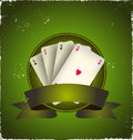 Casino Poker Aces Banner Stock Photo