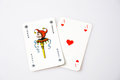 Casino poker cards on white background Royalty Free Stock Photography