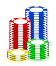 Casino poker chips illustration design on white Stock Image