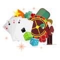 Casino Poster Roulette Card Dice Money Croupier