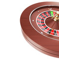 Casino roulette isolated on a white background Royalty Free Stock Photo