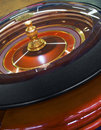 Casino roulette wheel rotation closeup Royalty Free Stock Photography