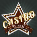 Casino royale bright star on shining background Stock Image