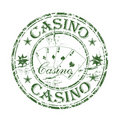 Casino rubber stamp Stock Images