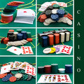 Casino set Stock Photos
