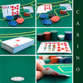 Casino set Royalty Free Stock Photos