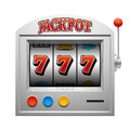 Casino slot gambling machine vector lucky and win concept Royalty Free Stock Photo