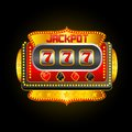 Casino slot machine vector illustration of showing jackpot Royalty Free Stock Photos