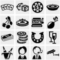 Casino vector icon set on gray isolated grey background eps file available Royalty Free Stock Photography