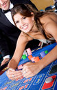 Casino woman gambling Stock Photography