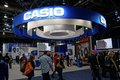 Casio convention booth ces las vegas nv usa exhibit at featuring their latest wearable technologies watches printers cameras and Royalty Free Stock Photo