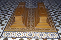 Caskets in an Islamic Tomb Royalty Free Stock Photo