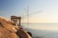 Casoni sottomarina chioggia ancient stilt house of fisher man in Stock Photo