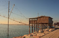 Casoni sottomarina chioggia ancient stilt house of fisher man in Stock Photos