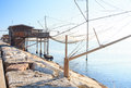 Casoni sottomarina chioggia ancient stilt house of fisher man in Royalty Free Stock Photos